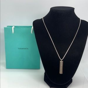 "Tiffany & Co. 1837 Bar Pendant Necklace 18"""